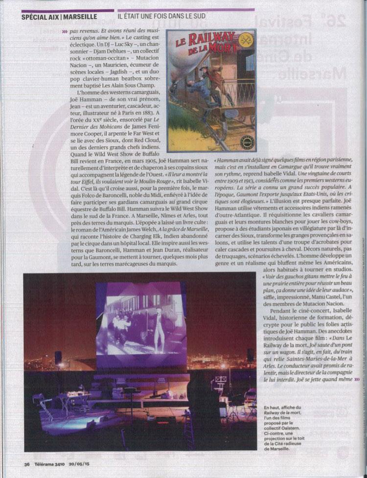 Telerama n°3410 – mai 2015